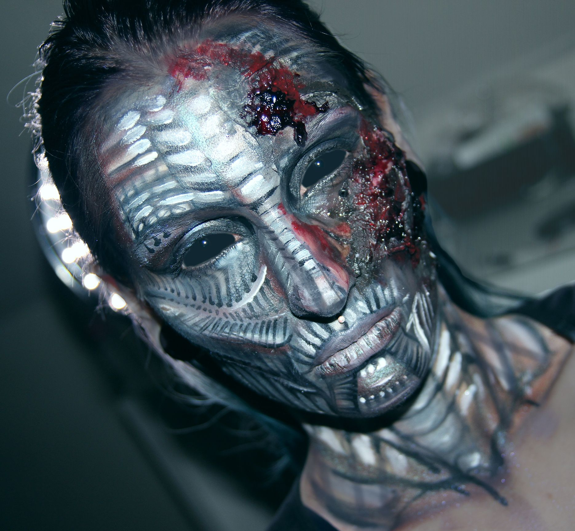 Pin by Kate Wolf on Halloween Costumes Robot makeup