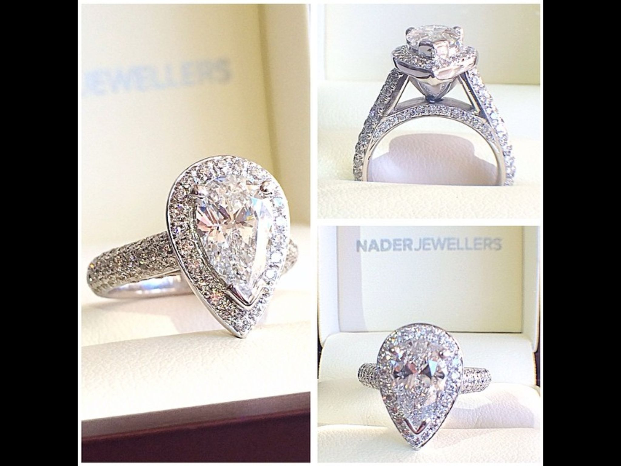 Nader Jewellers Australia Teardrop Diamond Engagement Ring I Want To Try  It On
