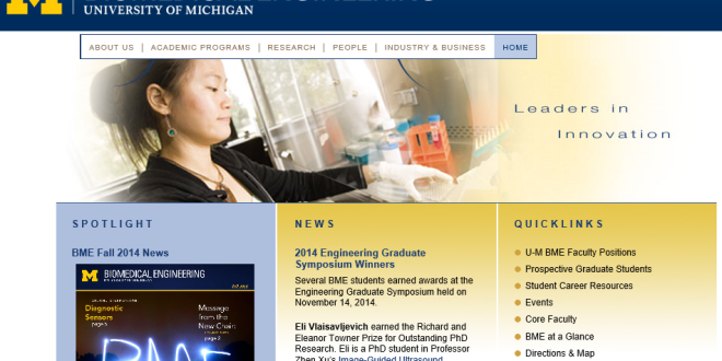 The University Of Michigan Offers A Great Biomedical Engineering