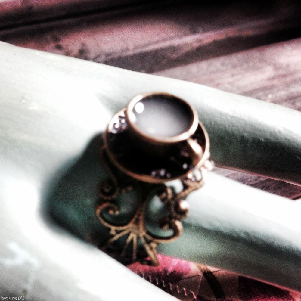 Kawaii Sweet Tea Cup Ring White Glow In The Dark Drink, Alice in Wonderland