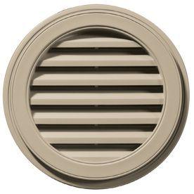 Builders Edge 8 In X 7 In Clay Round Vinyl Gable Vent 120032222085 Gable Vents Builders Edge