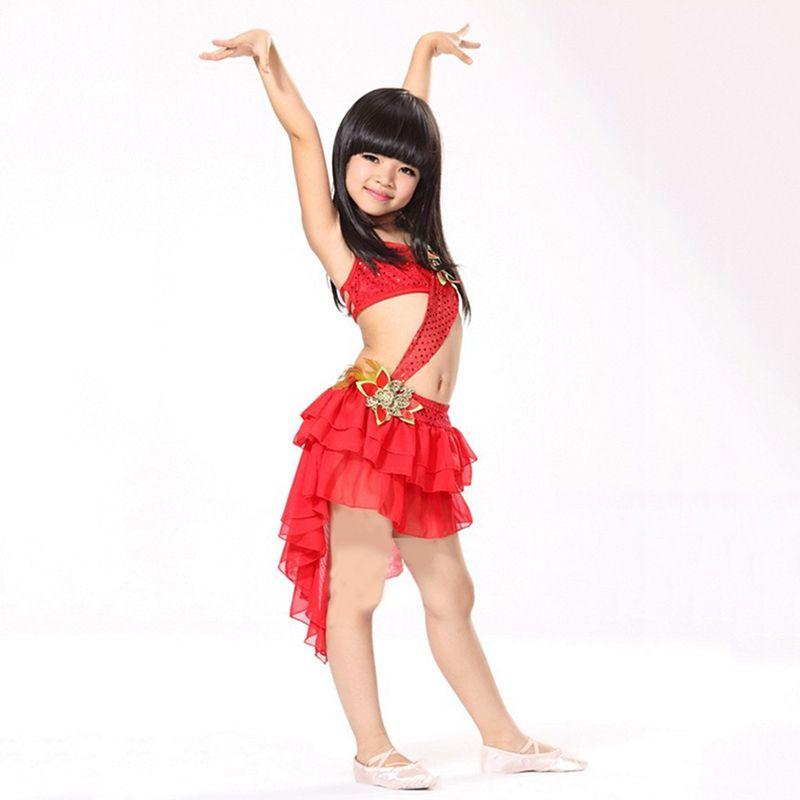f3c96ed284d1 Christmas Promotion Children Latin Dress Samba Dance Latin Salsa ...