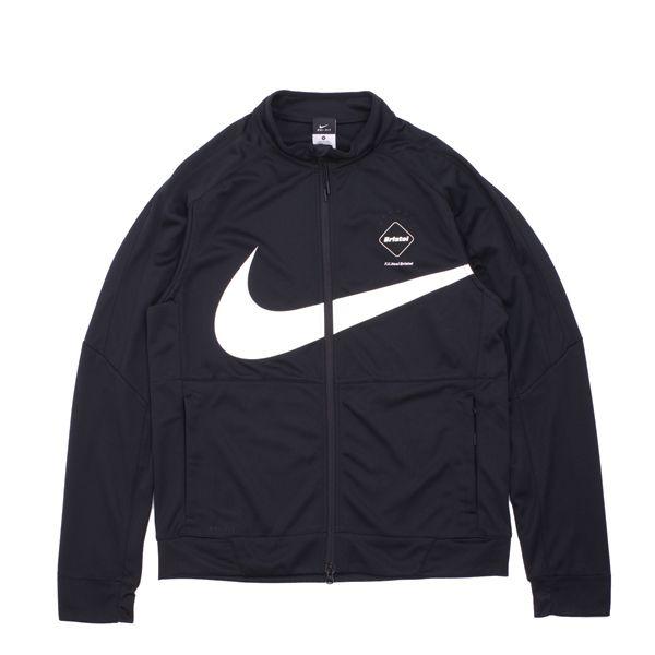 Mens Nikelab F.C. Real Bristol Dri Fit Knit Warm Up Black/White Jacket