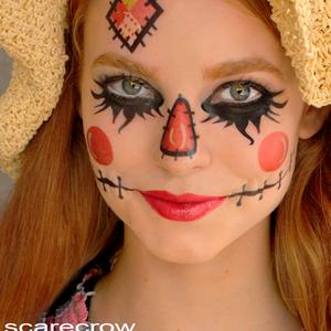 scarecrow face makeup scarecrow tattoos temporary makeup tattoos halloween festive. Black Bedroom Furniture Sets. Home Design Ideas