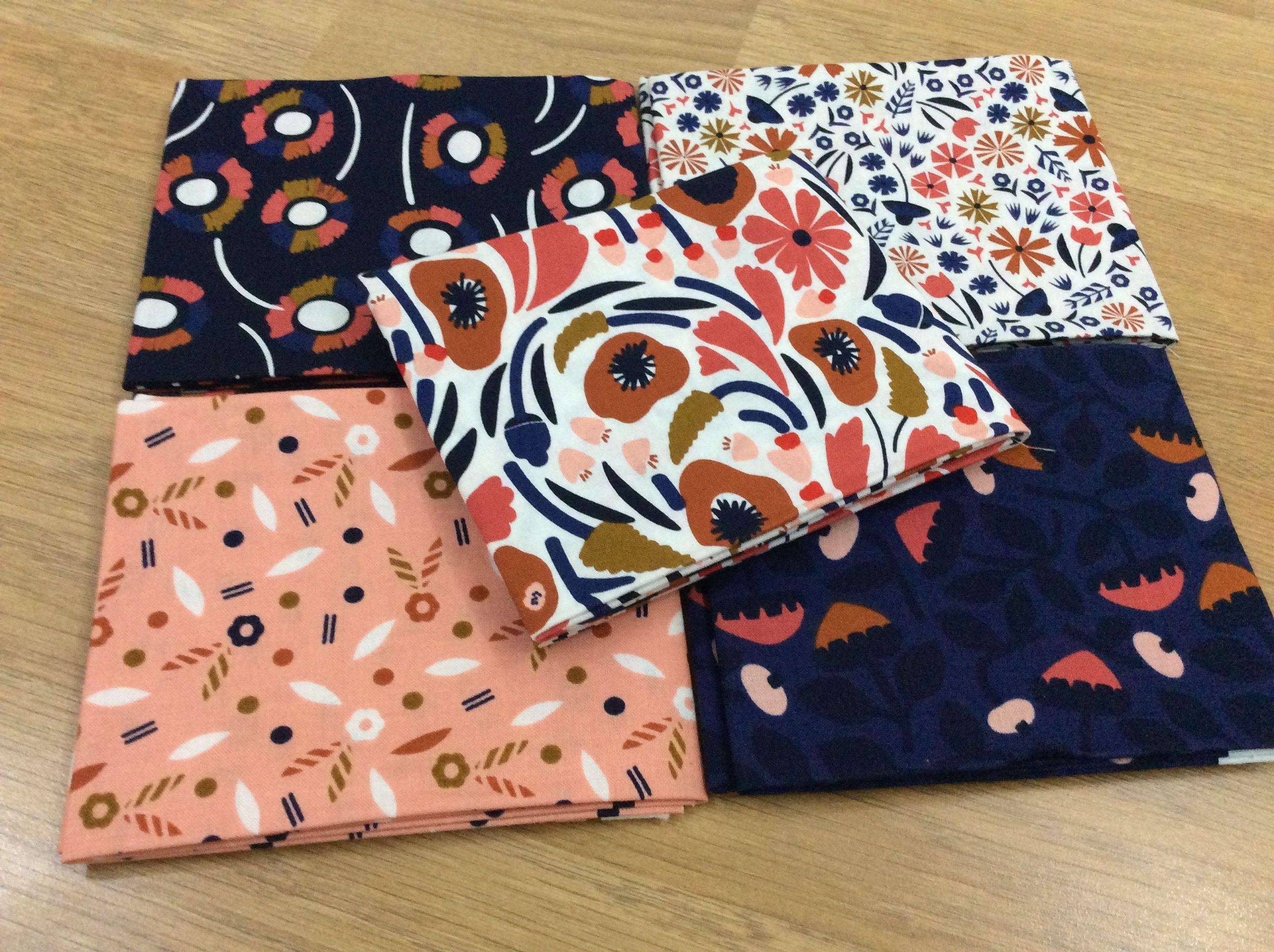 ORANGE Fat QuarterCotton Fabric FQ Sew Quilt Patchwork Craft  Flower Children