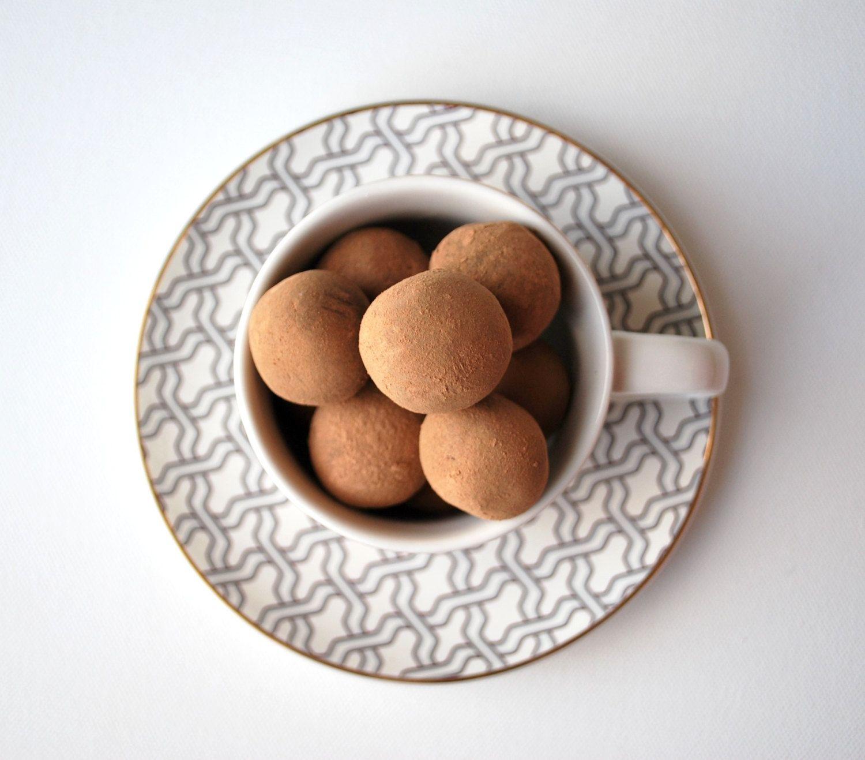 Dark Chocolate French Vanilla Espresso Truffles Box By