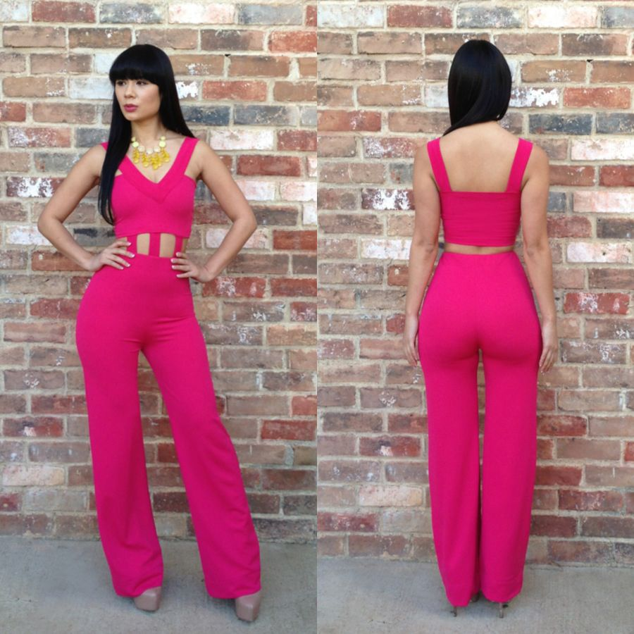 Kimi Kouture hot pink romper | Fab Outfits | Pinterest | Rompers ...