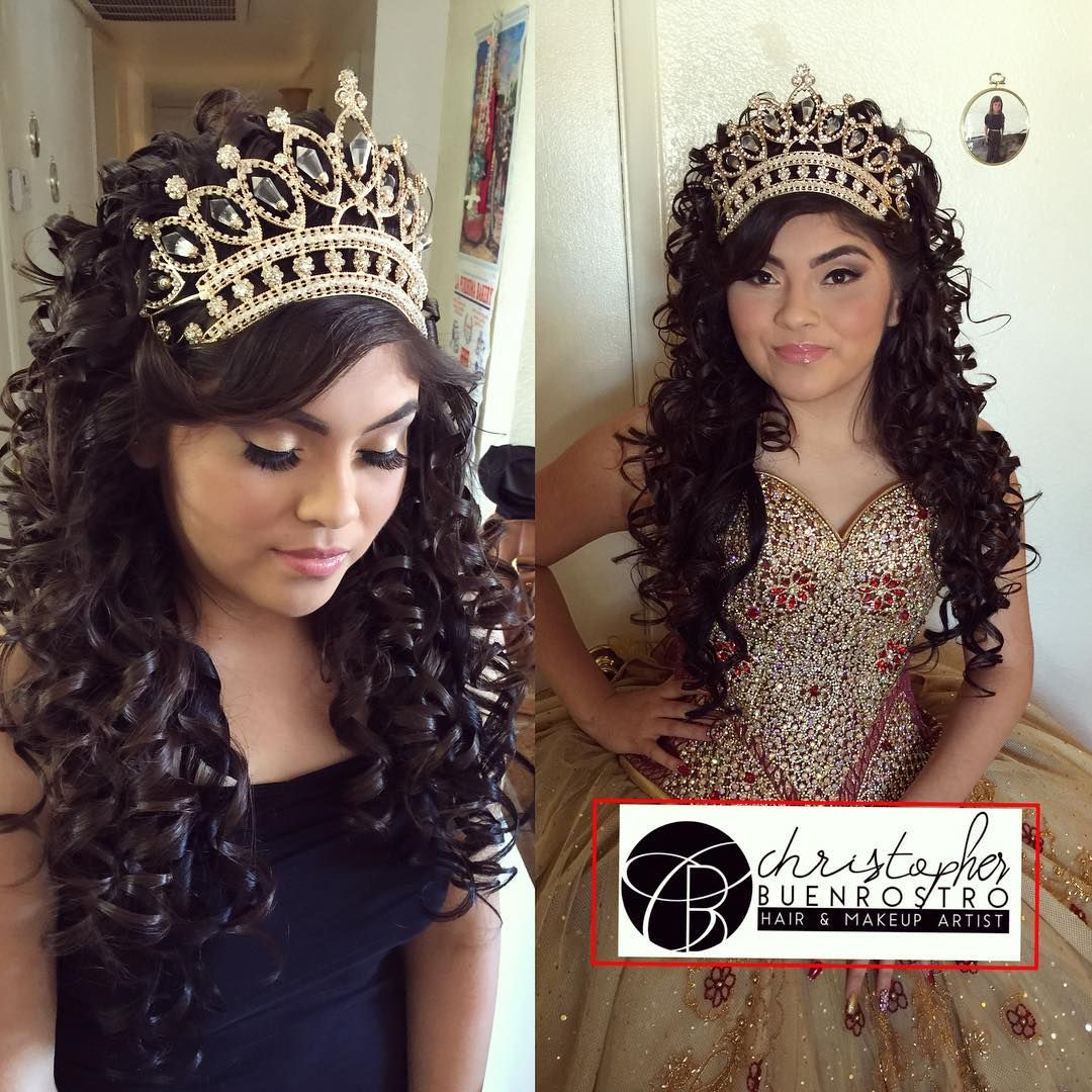 Stupendous Quinceanera Hairstyles With Curls And Tiara The Best Hairstyle Short Hairstyles Gunalazisus