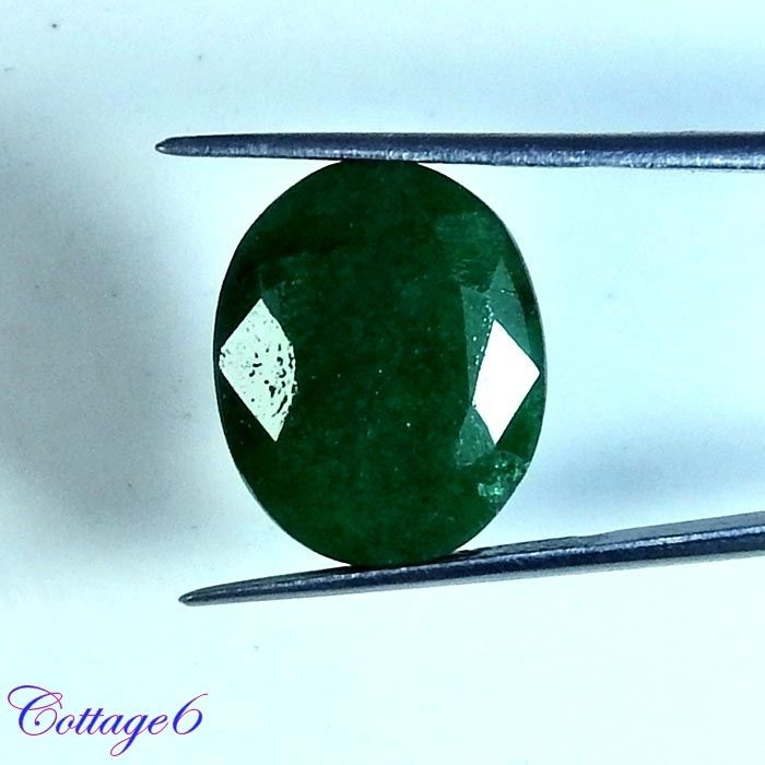 12.60Cts. FABULOUS!! NATURAL GREEN EMERALD OVAL CUT GEMSTONE #UNBRANDED