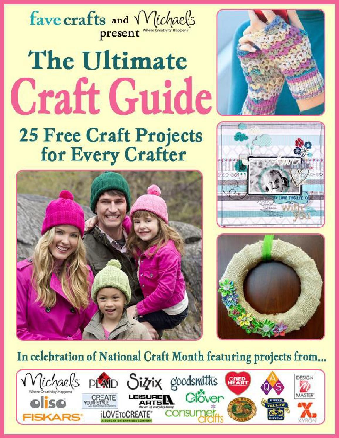The ultimate craft guide 25 projects for every crafter  DIY