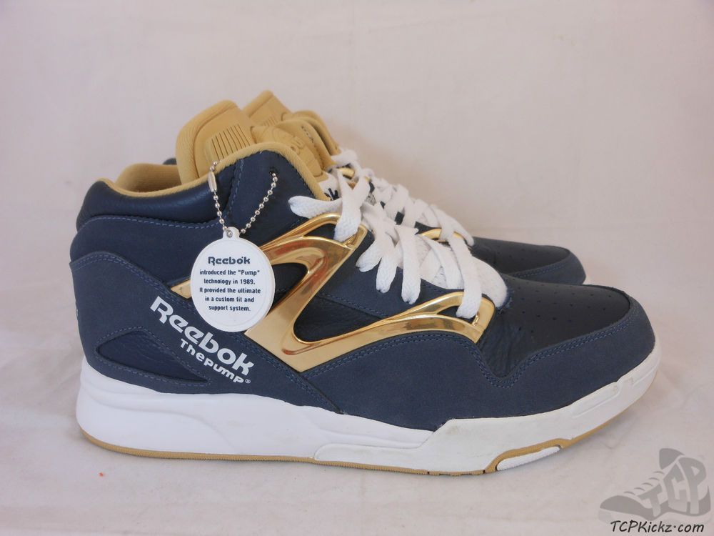 Mens Reebok The Pump Hexa lite Omni sz 115 XI Midnight Navy USA Olympic  Gold