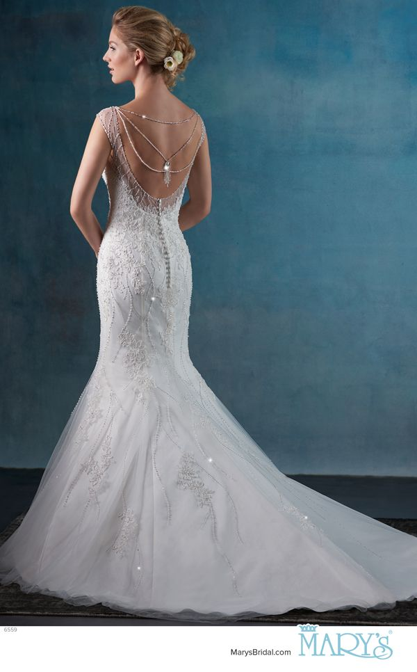 Mary\'s Bridal Style 6559 • Tulle fit and flare bridal gown with ...