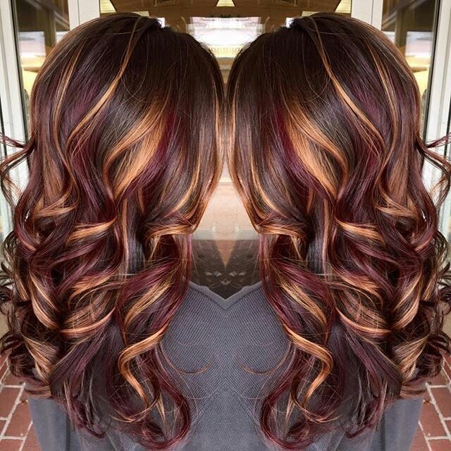 Chestnut Brown Hair With Burgundy Lowlights Caramel