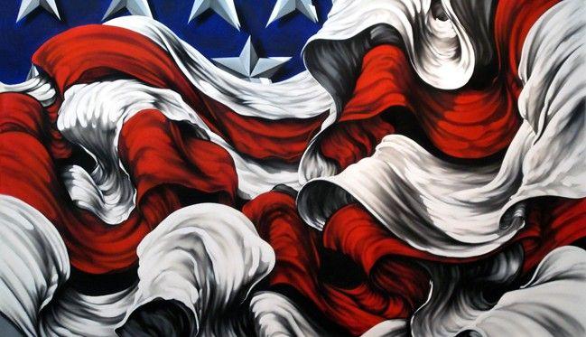 american flag art by Erni Vales