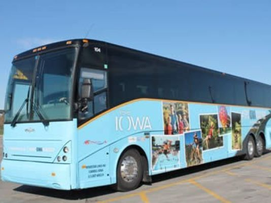 In an effort to promote some of the state's key tourism spots, a motorcoach will embark on a 2,100-mile road trip May 2 - 10. #EpicIowaRoadTrip