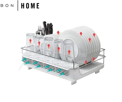 Bon Home Electric Heat & Dry Dish Rack – Dry Dishes in 10 Minutes at the Touch of a Button!