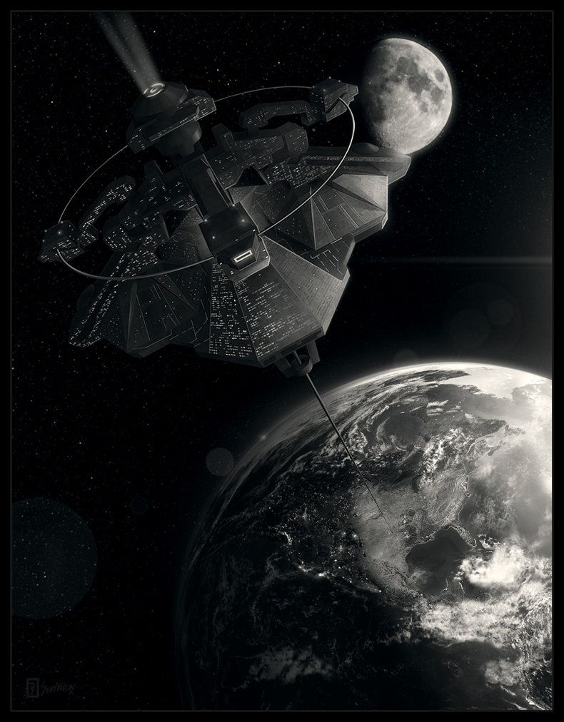 Orbital Space Tether by Rahll on DeviantArt