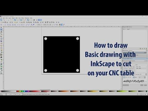1) Using InkScape to make basic drawings to cut with your