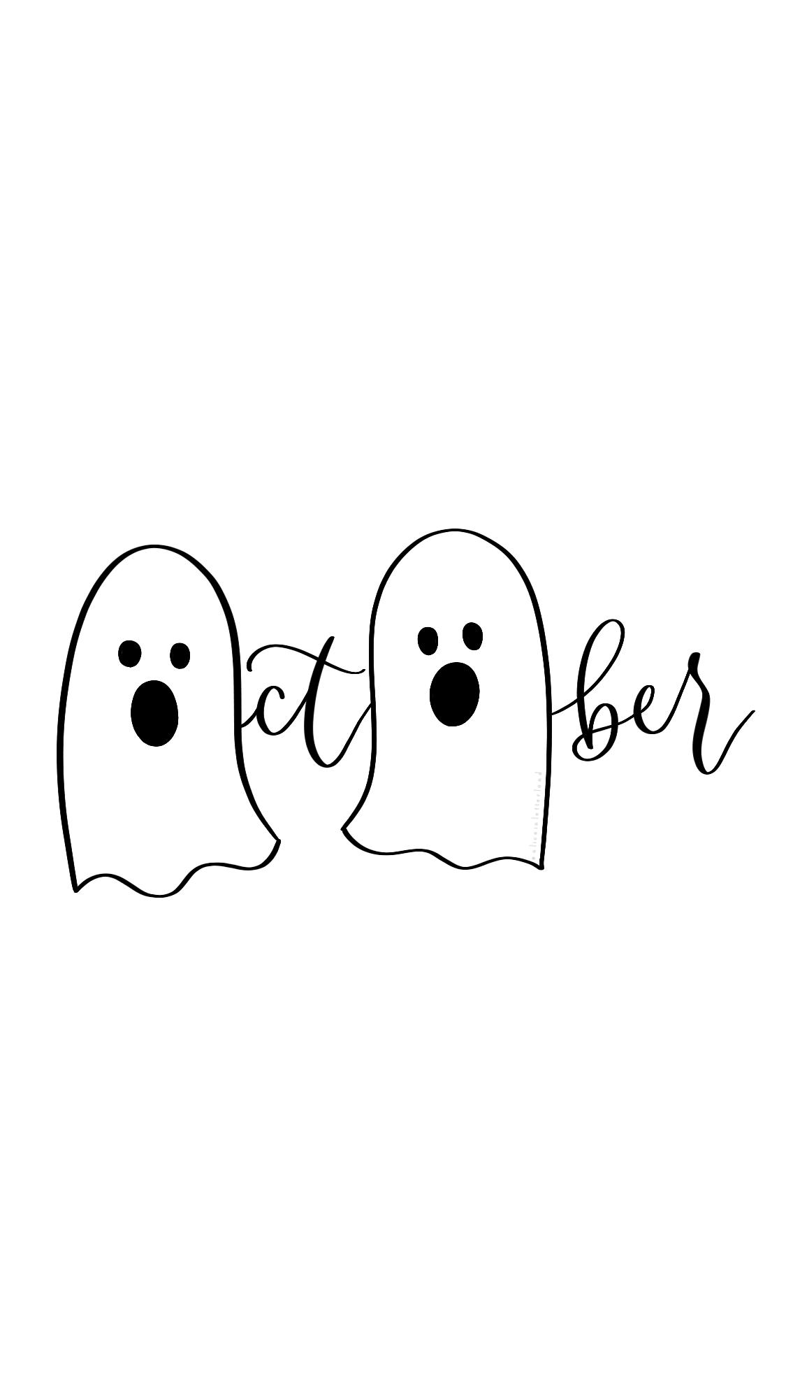 Cute Halloween / October wallpaper #octoberwallpaper Cute Halloween / October wallpaper #octoberwallpaper