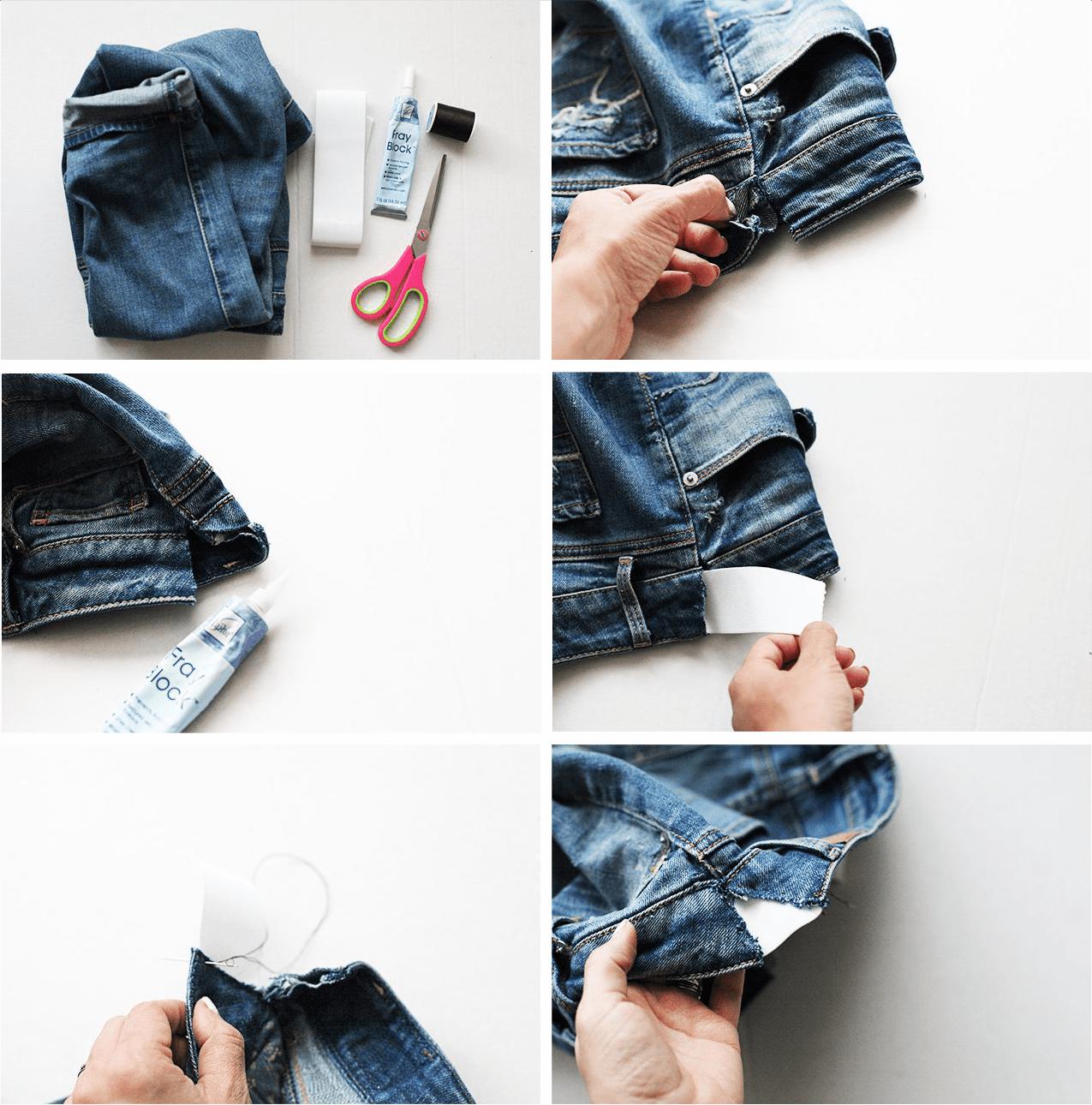 7bbbfa4a7 Como aproveitar a sua calça jeans na gravidez   Sewing tips   Jeans ...