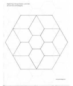 Jewel Flower Template Paper Piecing Patterns English