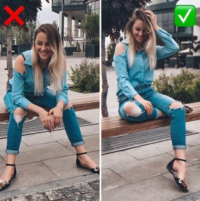 21 Dazzling Sitting Poses To Update Your Instagram With – Feminine Buzz – Picture Ideas | Ideas para fotos