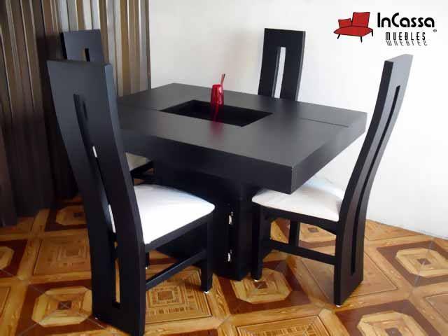 Antecomedor minimalista mod malta incluye mesa y sillas for Sillas para antecomedor