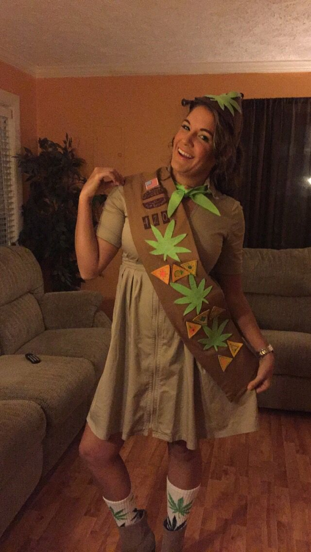 Pot Brownie For Halloween Pun Costume Funny