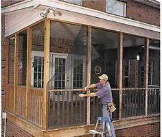 Do it yourself screened porch todays homeowner windows and doors do it yourself screened porch todays homeowner windows and doors weekend project solutioingenieria Image collections