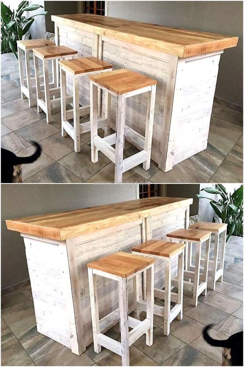 wooden pallet bar plan | furniture build | Pinterest