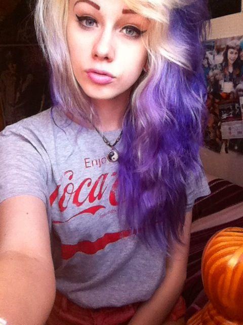 Half Blonde Purple Lilac Hair Hair Styles Summer Hairstyles