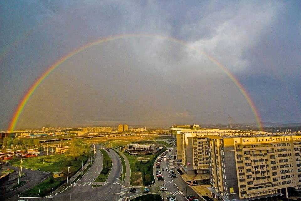 Rainbow above Novi Beograd after rain