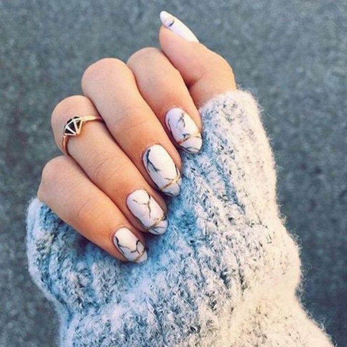 deco ongles marbre