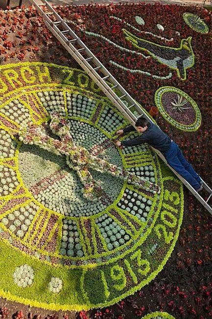 Edinburgh's floral clock in Princess Street Gardens