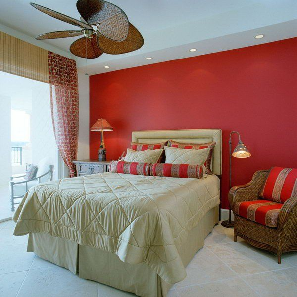 45 Beautiful Paint Color Ideas for Master Bedroom Red master