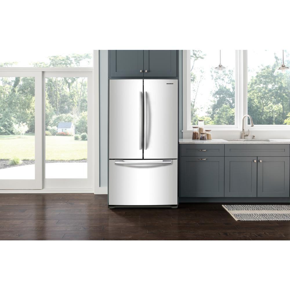 Samsung 33 In W 175 Cu Ft French Door Refrigerator In White