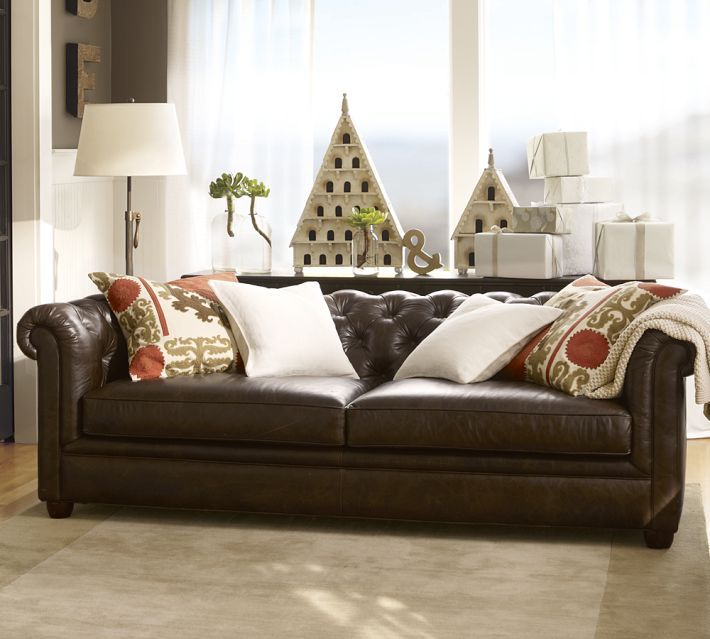 Gentil Chesterfield Leather Sofa. Pottery Barn ...