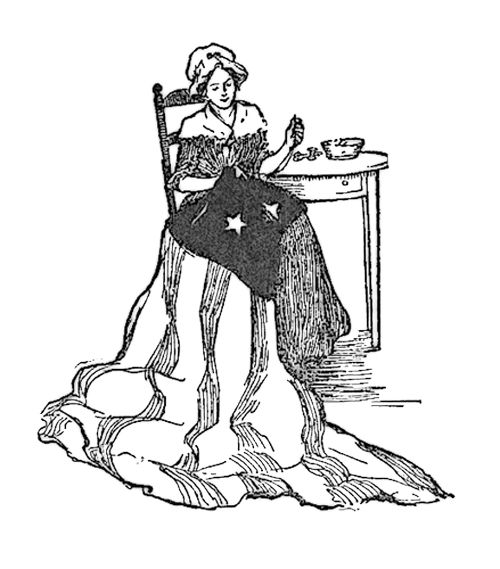 Betsy Ross Sewing Flag Were Quietly Coloring Page