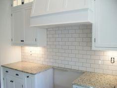 Giallo Ornamental Granite With Biscuit Subway Tile Backsplash Google Search