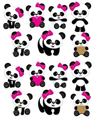 Panda Girl Bear Free Printable Cake Toppers Panda Decorations Panda Baby Showers Panda Themed Party
