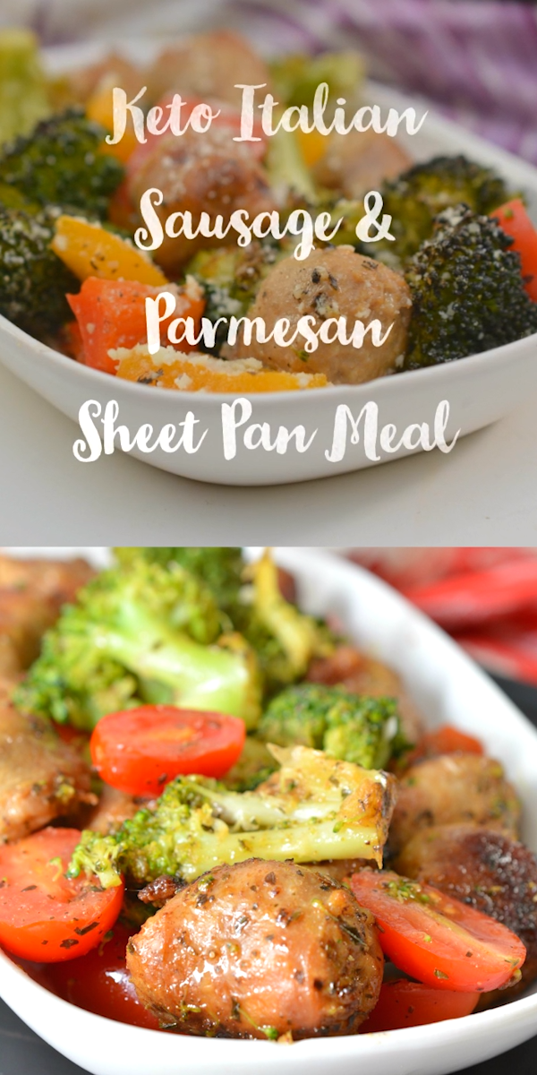 Keto Italian Sausage Sheet Pan Meal
