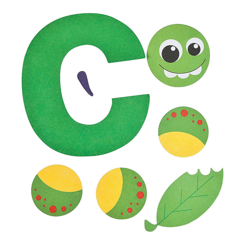 Letter C Caterpillar Pieces