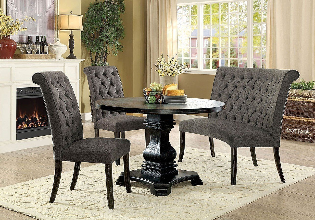38++ Grey dining table set round Trending