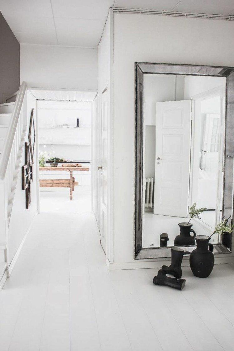 Id e de d co de couloir feng shui en blanc entree - Couleur hall d entree feng shui ...