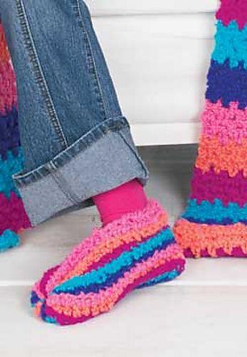 Ravelry: Striped Slippers (crochet) pattern by Patons | Crochet ...