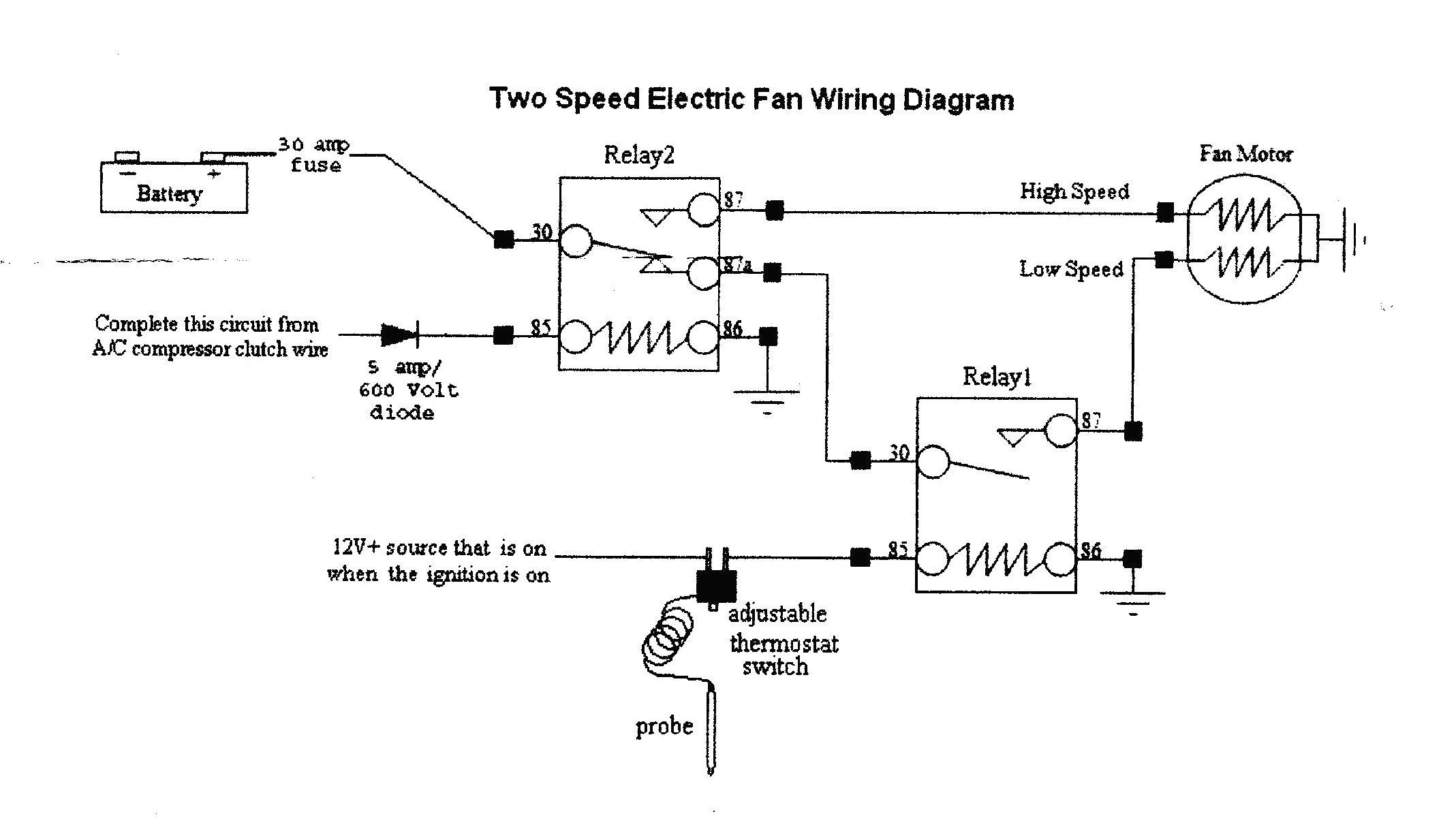 Unique Wiring Diagram For Electric Fan Relay Diagram