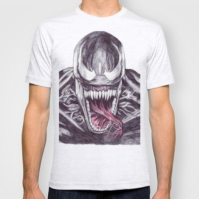 Venom T-shirt by DeMoose - $22.00 #marvel #comic #drawing #art #film #character