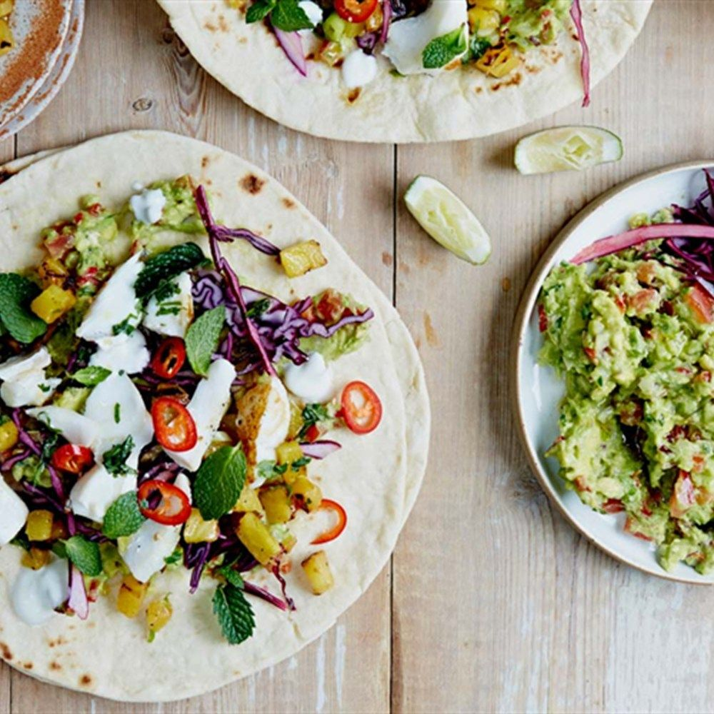 Fish Tacos With Pineapple Salsa Recipe Jamie Oliver Fish Tacos