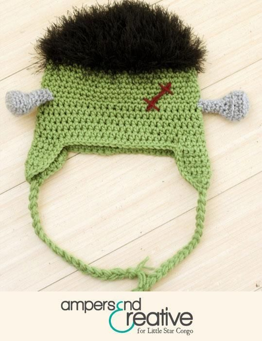 Frankenstein Beanie! Man I need to learn how to crochet | cosas que ...