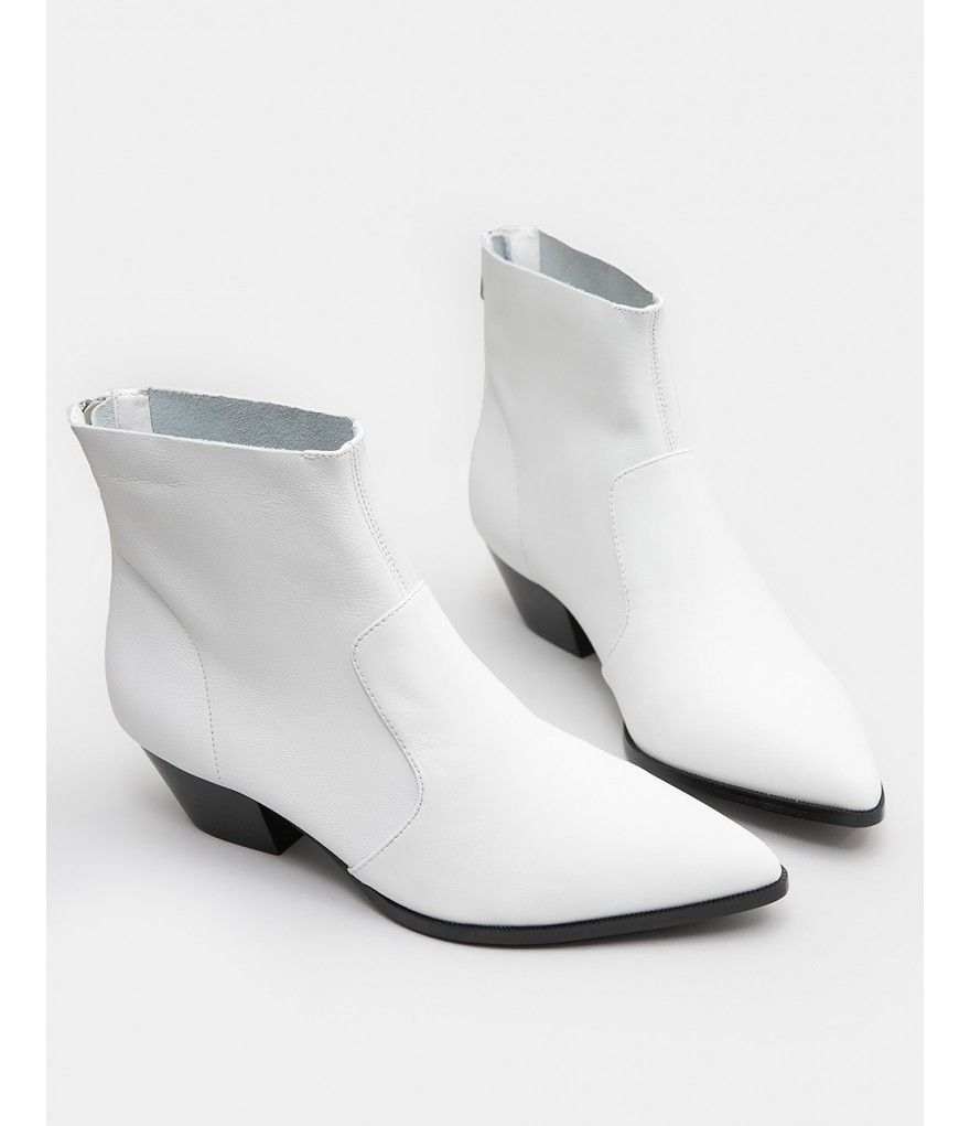hot-seeling original best cheaper Wyatt Western Bootie in White Leather | Holiday | Winter ...